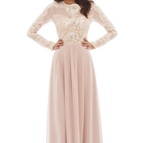 080fbae3ecb ASOS Dresses   Skirts - Blush Pink Lace Maxi Dress
